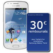 Smartphone Samsung Galaxy Trend S7560 Blanc (avec ODR 30€)