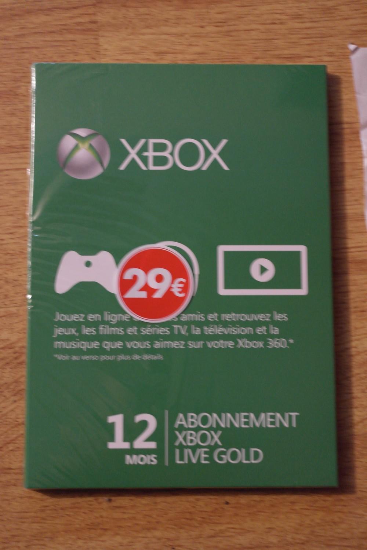 Carte abonnement Xbox live 12 mois