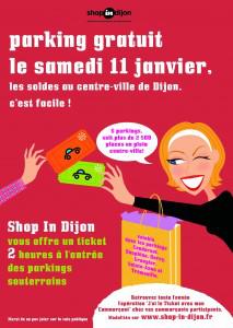 Parkings souterrains gratuits à Dijon le samedi 11 Janvier