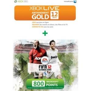 Abonnement Xbox Live + 800 MS Points offerts