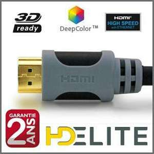 Câble HDMI 2m HDElite Livraison offerte