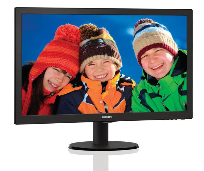 "Ecran PC 23"" Philips 233V5LS - DVI/VGA 5ms 16/9 full HD"