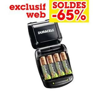 Chargeur Duracel piles AAA et AA + 4 Piles AA