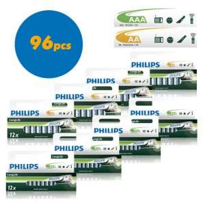 48 piles Philips Powerlife LR03 Micro AAA et 48 Philips Powerlife LR6 Mignon AA