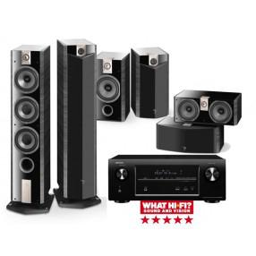 Kit Home cinéma Ampli Denon AVR-X2000 + Pack d'enceintes colonnes Focal Chorus 826V