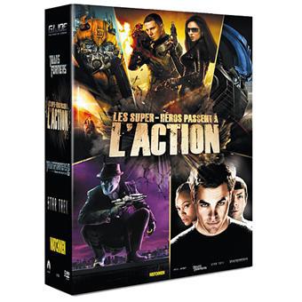 Coffert DVD 5 films (Transformers 1 et 2 - G.I. Joe - Watchmen - Star Trek 2010)