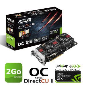 Carte graphique Asus GTX770 GDDR5 OC DC2 4Go à 337.16€, 2Go