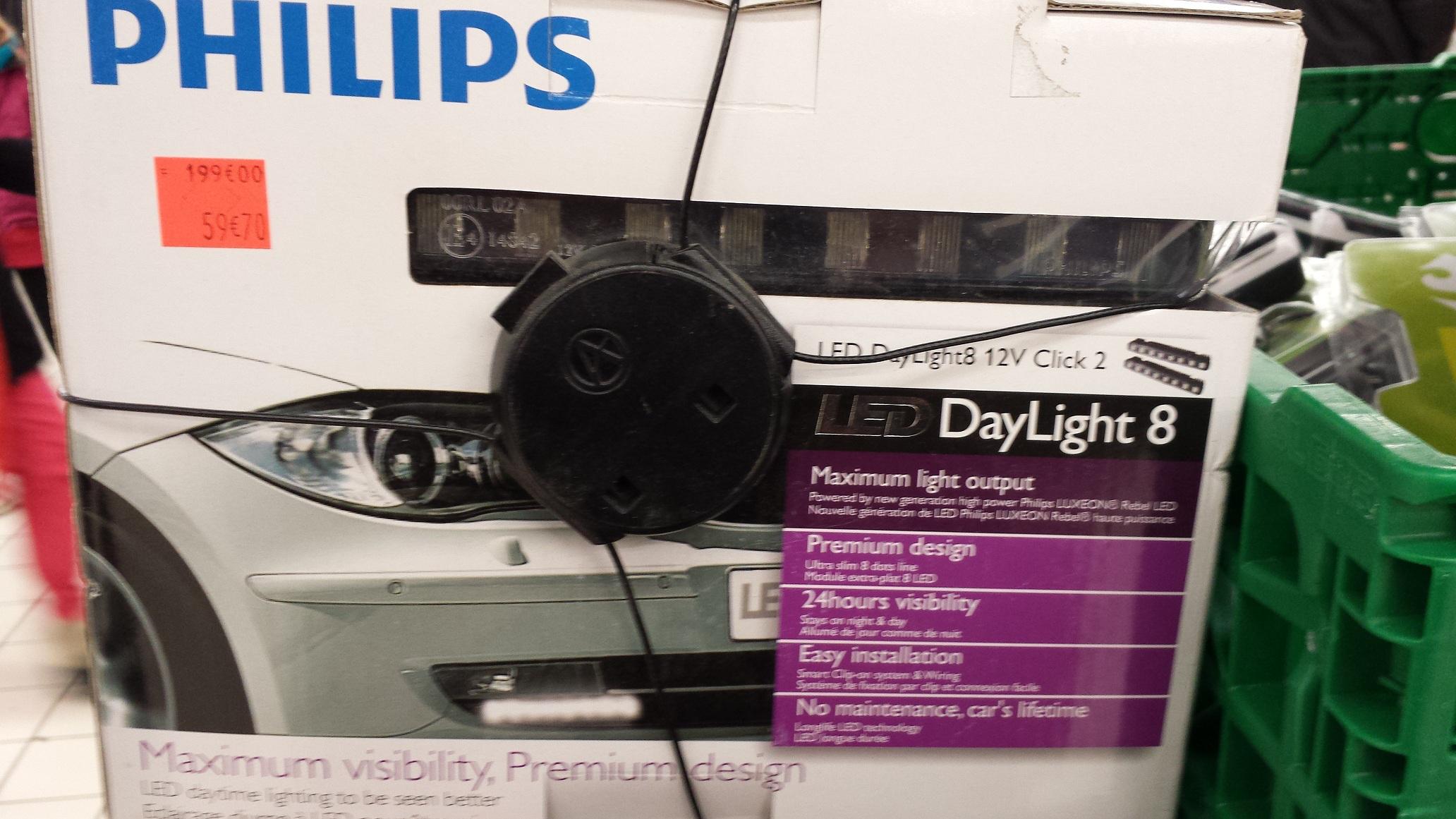 Feux de jour leds automobile Philips DayLight 8 Solutions LED