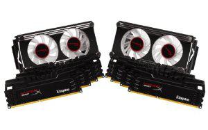 Kit de 8 Mémoire RAM (8x8Go) 64Go Kingston Technology Beast series XMP Non-ECC CL11 DIMM 64 Go Noir + 2 ventilateurs