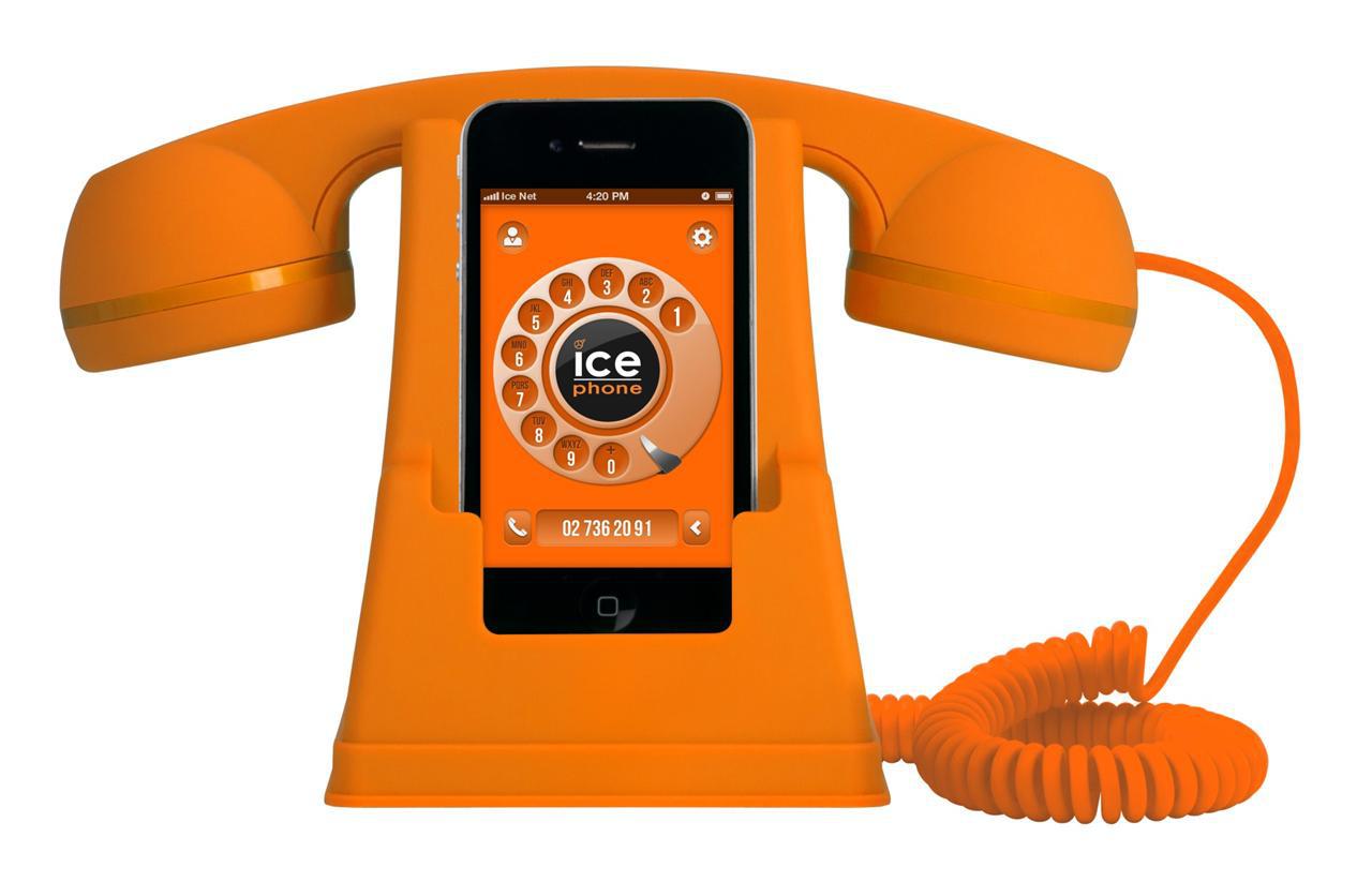 Dock téléphone pour iPhone Ice Watch Ice Phone Retro jaune ou orange