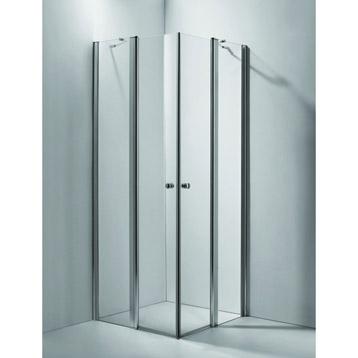 Porte de douche d'angle battante en verre, 100 cm