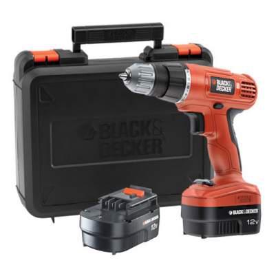 Perceuse sans fil Black et Decker EPC12CABK 12 volts