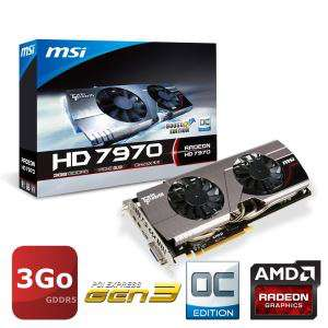 Carte graphique MSI AMD Radeon HD7970 3Go GDDR5 OC