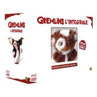 Gremlins 1 & 2 – Coffret Combo Blu-Ray DVD + La Peluche Gizmo