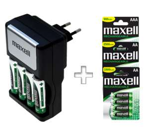 Maxell Chargeur hi speed + 16 piles rechargeables
