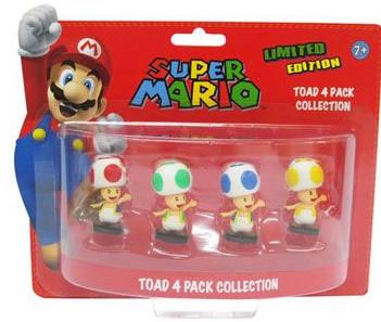 Pack Toad : 4 mini figurines Nintendo