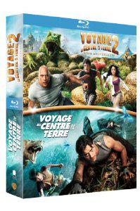 Coffret 2 Blu-Ray Voyage au centre de la Terre 1 et 2