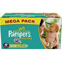 Pampers Baby Dry MegaPack (50% sur carte Waooh)