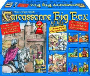 Carcassonne Big Box (Jeu + 2 extensions + 7 mini-extensions)