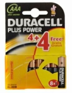 8 Piles LR03 Duracell Plus Alcaline prix port compris