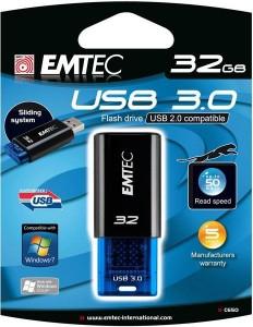 Clé USB 32 Go USB 3.0 EMTEC C650 - 5x plus rapide que l'USB 2! avec code promo