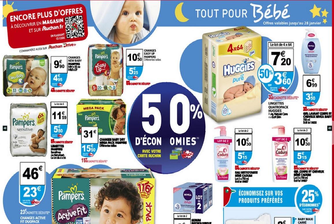 Couches Pampers Active Fit (et de nombreux autres produits bébé)