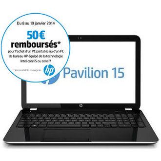 """Ordinateur portable 15.6"""" HP Pavilion 15-e050 (Avec ODR de 50€)"""