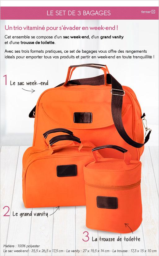 Un set de 3 bagages offert pour toute commande + 1 plaid offert dés 35€ d'achat