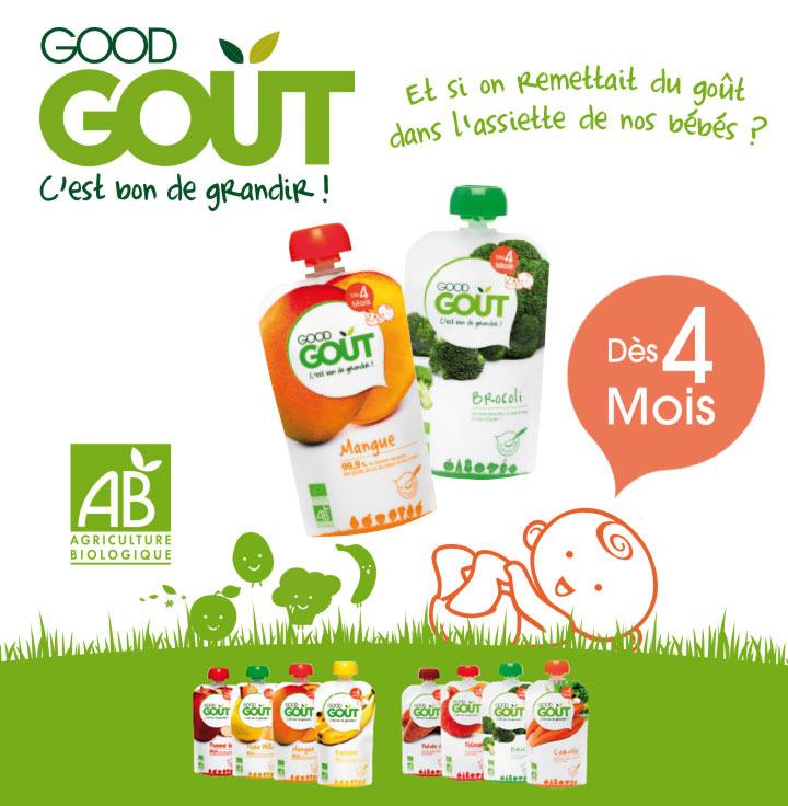 Gourde Good Goût (compote) 100% remboursée (via shopmium)