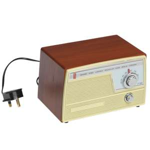 Radio cuisine rétro fifties FM Marron/Beige