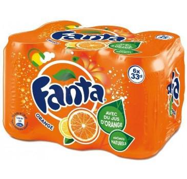 2  packs de 6 boîtes de 33 cl Fanta (50% sur la  carte de fidélité)