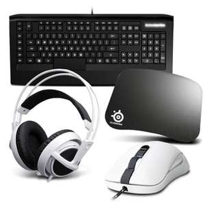 Pack gaming Steelseries en promo. Ex :  Souris Kana V2 + Clavier Apex Raw + Casque Siberia V2 + Tapis 4D