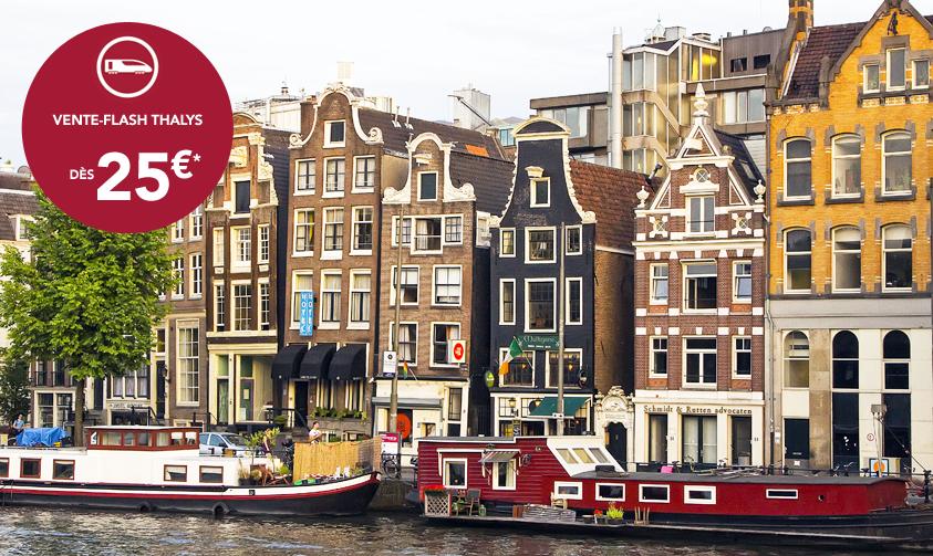 Vente Flash billets de train Thalys au départ de Paris : Bruxelles, Cologne, Anvers, Amsterdam... dès