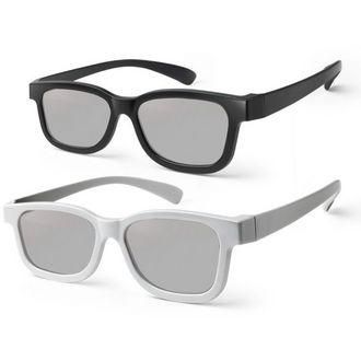 2 paires de Lunettes 3D Passives TV Meliconi View 100