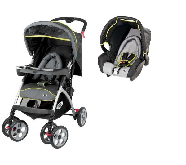 Poussette bébé Pack Duo EMOJI - Noir et Gris
