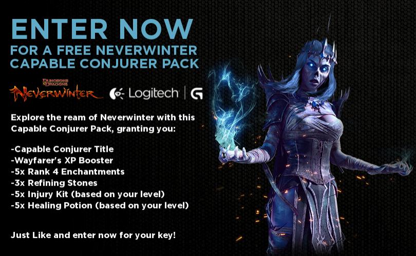 """Pack """"Capable Conjurer"""" gratuit pour le jeu Neverwinter [Game Booster]"""