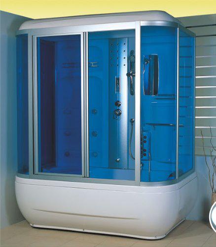 Douche Balnéo Hammam : 6 jets de massage, massage des pieds, ventilateur, radio (149,90€ de port)