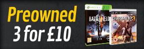 3 Jeux d'occasion au choix sur PS3/Xbox 360 DS/3DS/Wii