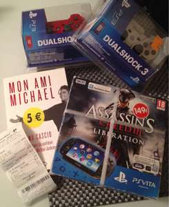 Console PS Vita Pack Assassin's Creed Liberation à 129€, Manette PS3 Dualshock 3