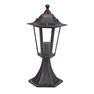 Lampe d'exterieur 6 Faces couleur Rouille E27 60W