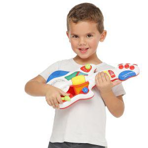 Guitare rock enfant Happy Kid blanche avec disque