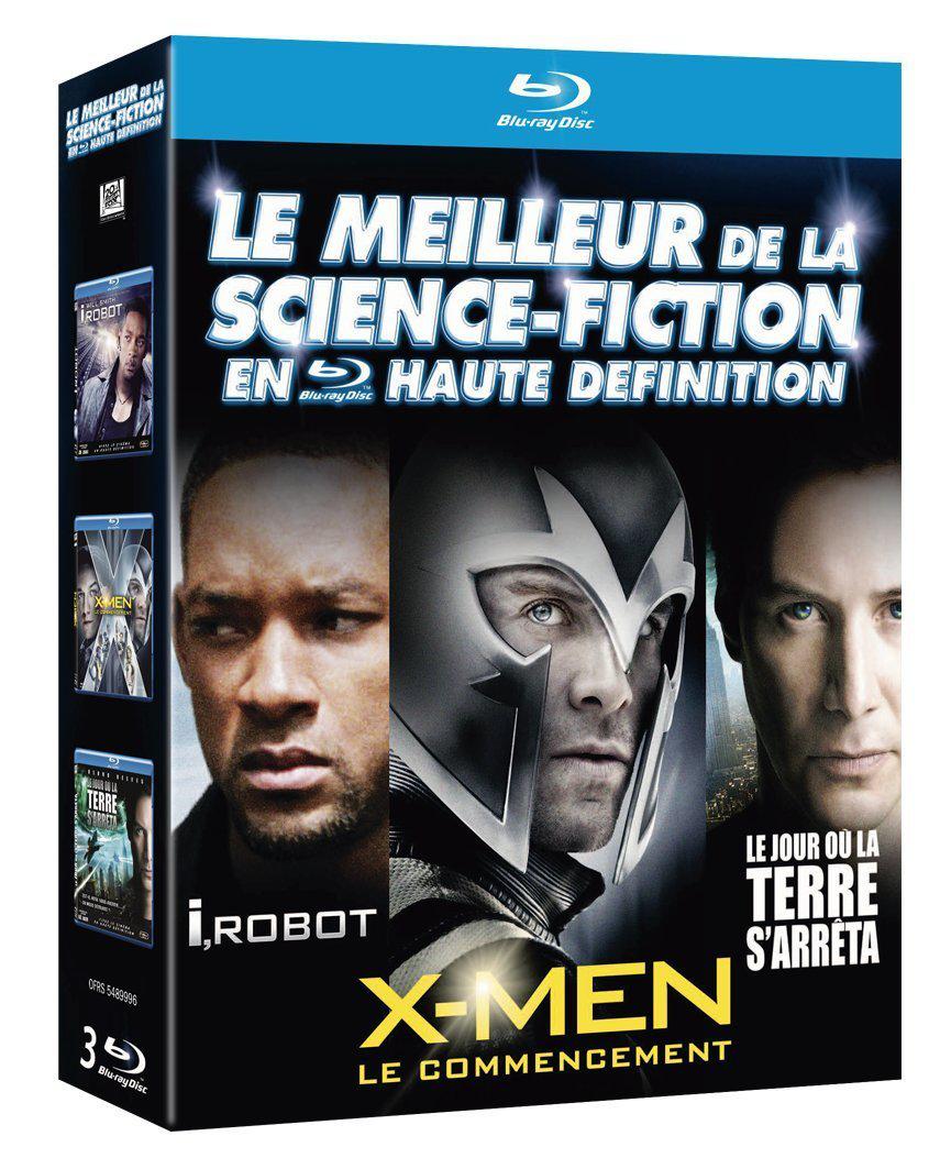 Coffret 3 Blu-Ray Science fiction : I Robot + Le jour où la terre s'arrêta + X-Men Le commencement