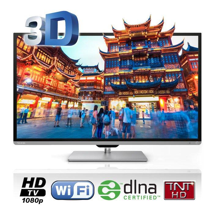 """Téléviseur Toshiba 40L7331DG LED 3D, 40"""", Full HD, Wi-Fi"""