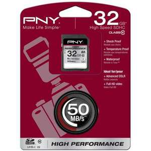 Carte mémoire PNY High Performance 32 Go SDHC UHS-I Classe 10