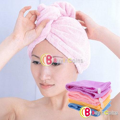 Serviette Turban magique en microfibres pour les cheveux