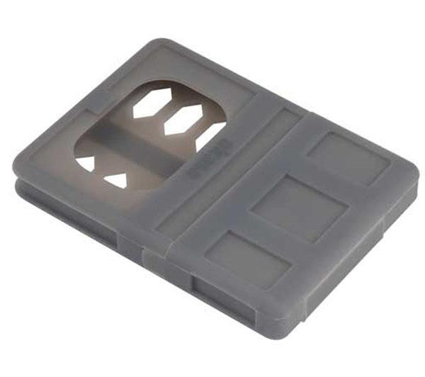 """Étui en silicone Akasa Flexstor S25 pour disque dur 2,5"""" 9.5mm (6-AK-HPC02-GR)"""