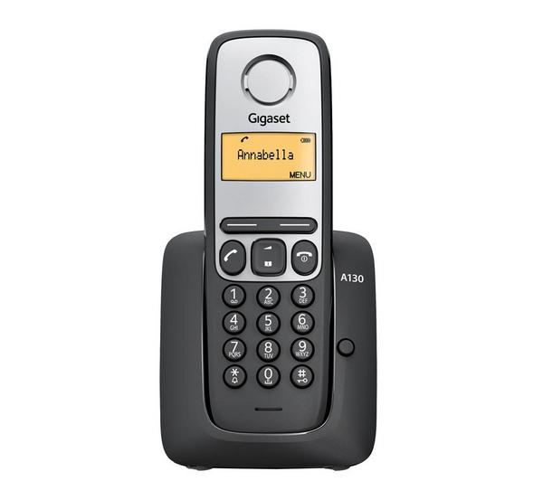 Téléphone sans fil DECT Gigaset A130 Noir
