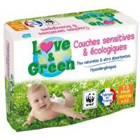 Couches écologiques Love & Green (50% sur carte fidélité)