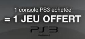 Console PS3 320 Go   + 1 Jeu PS3 offert !