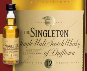 Mignonnette gratuite 5 Cl Whisky Singleton 12 ans